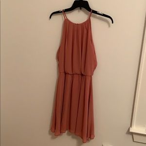 Pink high neck formal dress size Medium